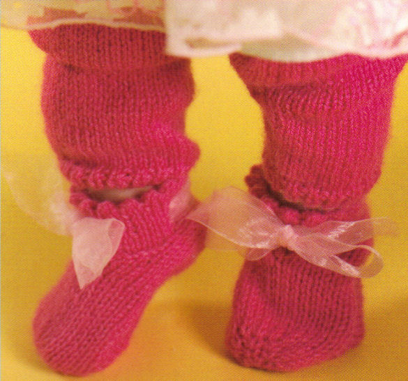 Baby Ballet Slippers Knitting Pattern : Knit Baby Booties Patterns Ballerina Slippers Mary Jane eBay